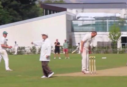 Batsman escapes super soft dismissal thanks to a no ball