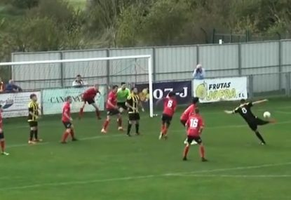 Striker nails half-volley goal on his second attempt