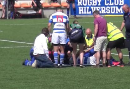 Friendly fire absolutely cleans up local rugby player