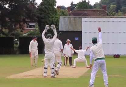 Umpire makes controversial LBW decision after rejecting first appeal