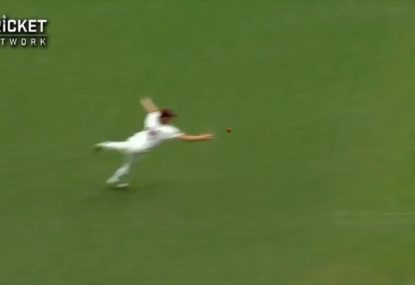 This catch from Nathan McSweeney couldn't be more classic