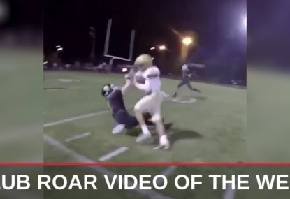 CLUB ROAR VIDEO OF THE WEEK: Highschool footballers massive head on collision