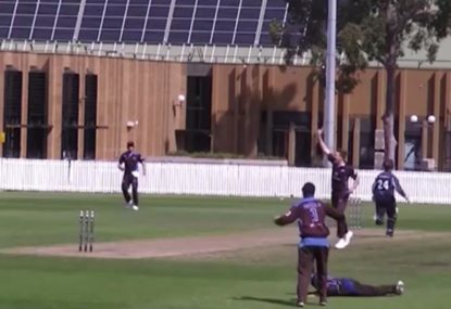 Ricky Ponting-esque fielding from point creates a run out from nothing