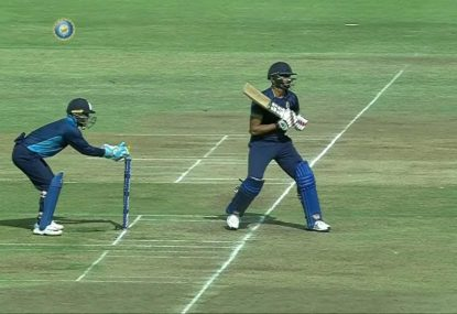 Sneaky stumping proves why batsman should always be alert