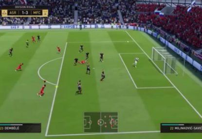 Incredible FIFA fail sees three shots hit the crossbar in ten seconds