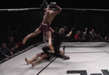 Amateur fighter disqualified for disgraceful act after knocking out opponent