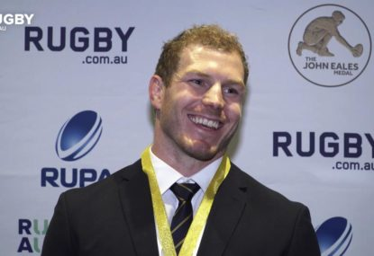 David Pocock reflects on his second John Eales Medal win