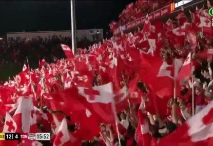 Pangai Junior try sends Tonga fans wild