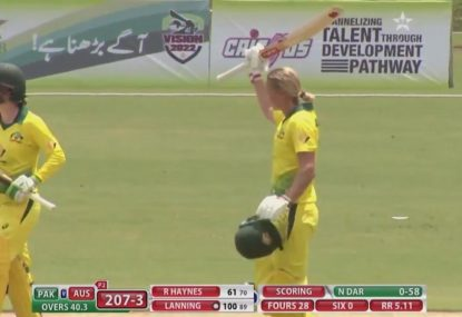 Meg Lanning scores ripper knock as Australia knock over Pakistan