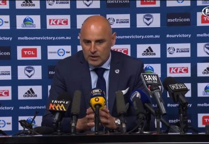Kevin Muscat responds to Derby VAR controversy