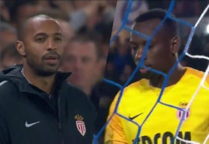 Thierry Henry's managerial career at Monaco starts with... a deadset keeping shocker
