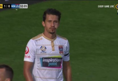 Newcastle Jets begin their campaign with a brutal own goal
