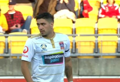 Dimitri Petratos sends an absolute rocket into the back of the net