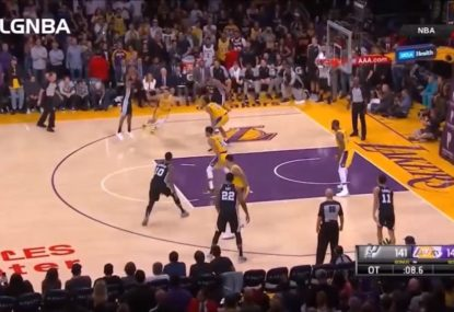 Clutch Patty Mills sinks the Lakers at the death