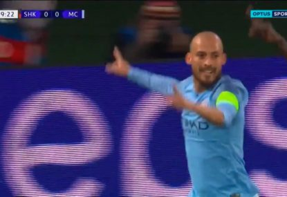 Silva strikes first for Manchester City