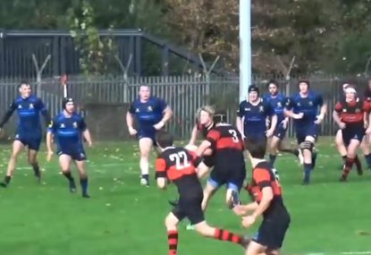 Carter-clone throws devastating flat ball to set up superb try