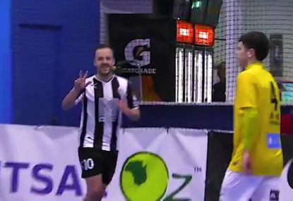 Futsal freak completes his hat-trick with an absolute stunner