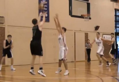 Rising basketball star absolutely dominates the court