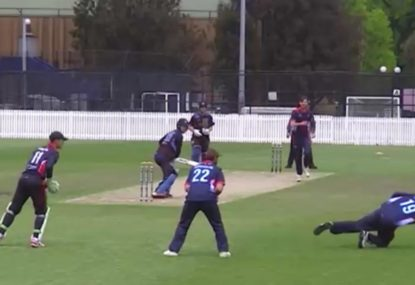 Incredible one-handed slips stunner is every fielder's dream