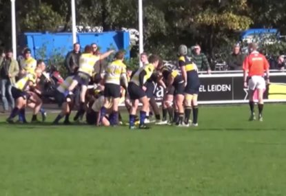 Little halfback fails gloriously with epic charge down attempt