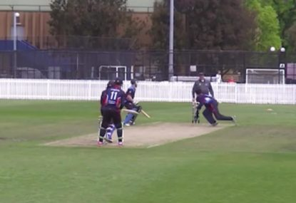 Run out nightmare! Non-striker casually gets done at bowlers end