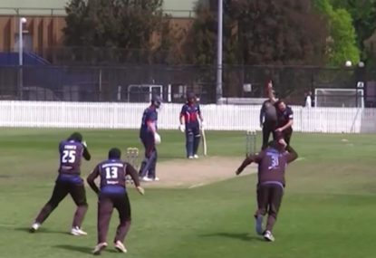 Bowler lives the dream, takes wicket with first ball of the innings