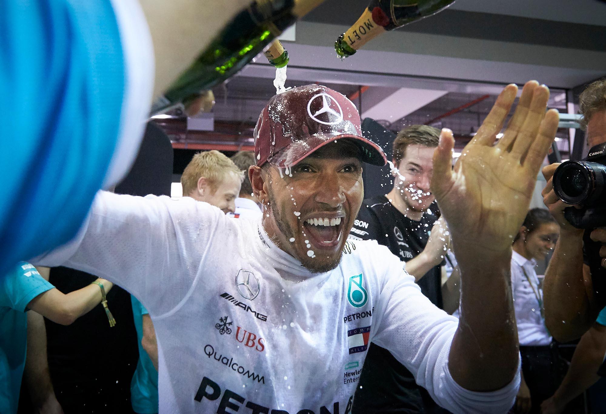 Lewis Hamilton in Singapore.