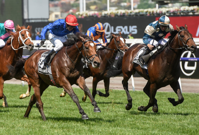 Cross Counter beats the field to win the 2018 Melbourne Cup.
