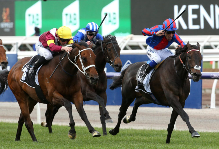 A Prince Of Arran ridden by Michael Walker wins the Lexus Stakes