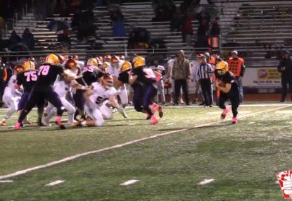 Quarterback runs in 70-yard touchdown after brilliant fake hand off