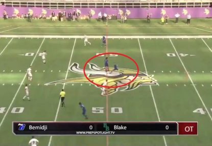 Teen wins state championship for team with insane kick-off goal in overtime