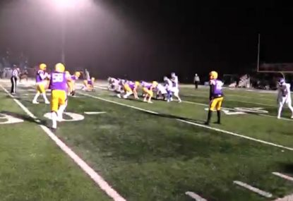 Offensive play falls apart thanks to defensive linesman's aggressive rushing