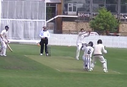 Renegades' Tim Ludeman falls to epic caught-and-bowled in grade cricket