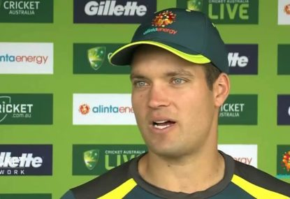Carey's starring role as debut captain helps Aussies smash Windies