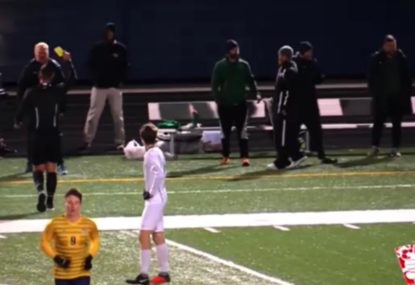 No-nonsense ref shocks coach and players with three quick yellows