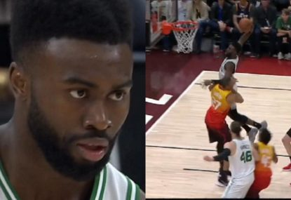 Commentator roasts Celtics star for post-dunk staredown while 18 points down