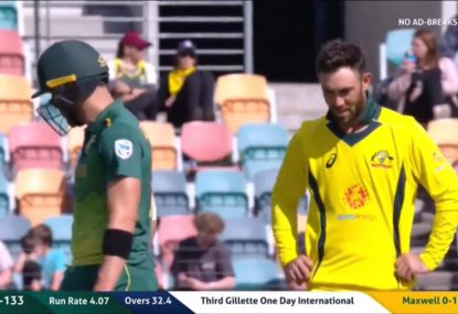 Another hilarious Kerry O'Keeffe quip as review denies Glenn Maxwell a wicket