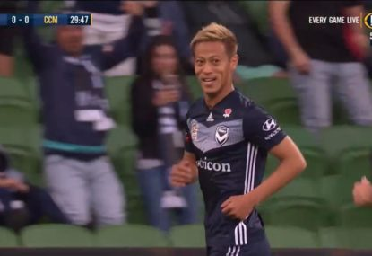 Keisuke Honda produces top class finish for Victory's first