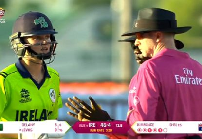 Did this controversial five-run penalty cause the run out that soon followed?