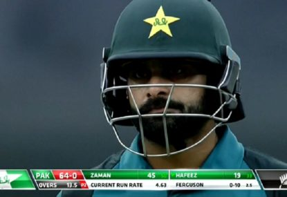 Mohammad Hafeez falls to rare dismissal for first time in his 203-game ODI career
