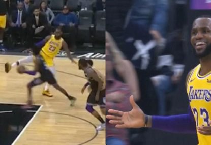 LeBron James' hilariously bogus attempt to defend