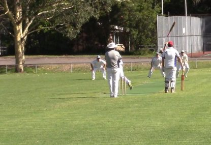Bat following ball into space is the perfect park cricket comedy