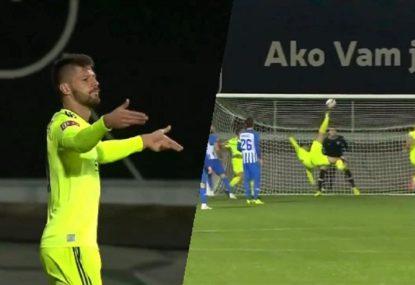 Croatian forward's absolutely insane bicycle kick goal belongs in The Matrix