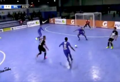 Rapid passing and one-touch rocket destroys defence