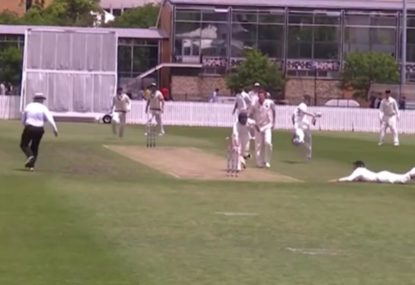 Jonty Rhodes clone's brilliant run out with only one stump to aim at