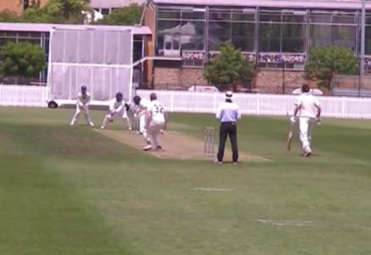 Crafty spinner outwits charging batsman for stumping