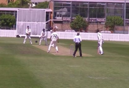 Spinner gets clobbered for gloriously massive straight hit