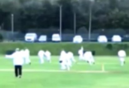 Epic celebrations kick off after club earns league promotion with final-ball wicket!