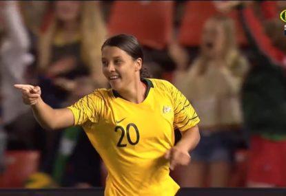 Sam Kerr scores first for Matildas