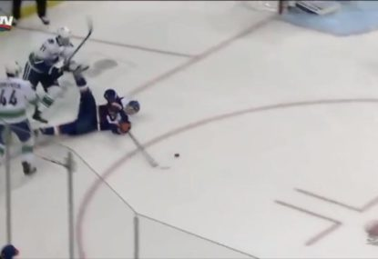 Ice Hockey miracle goal in the NHL